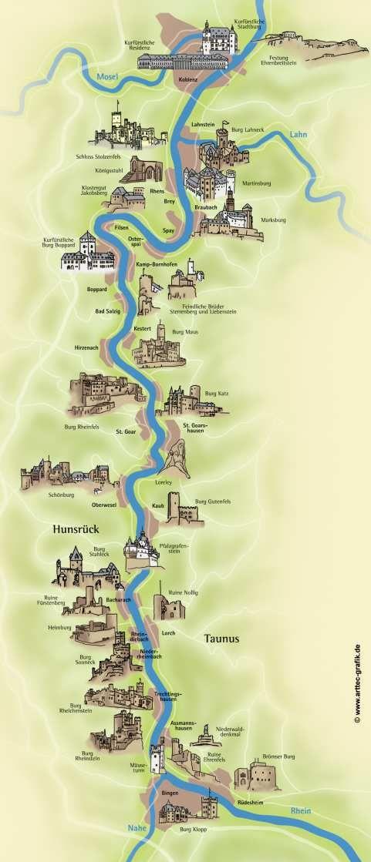 burgen an der mosel karte Burgen & Schlösser am Rhein | boppard tourismus | Castles