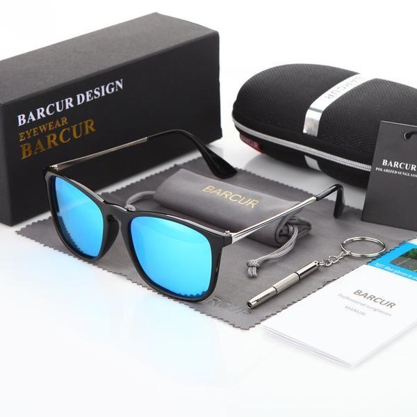 5ccbfab5c7bd5 BARCUR Fashion Sunglasses Men Women Polarized Mirror Sun Glasses Half Metal  Male Sunglasses UV400 gafas oculos