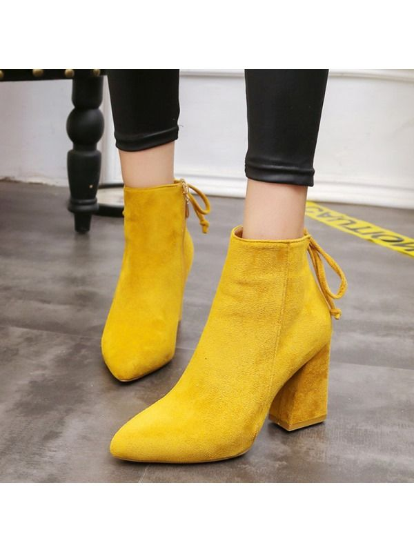 740ec73726f Tidebuy.com Offers High Quality Faux Suede Lace-Up Side Zipper ...