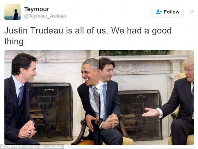bf5f29d0a93233245a0ff5d4511dc2ab internet goes to town on trump and trudeau's awkward handshake