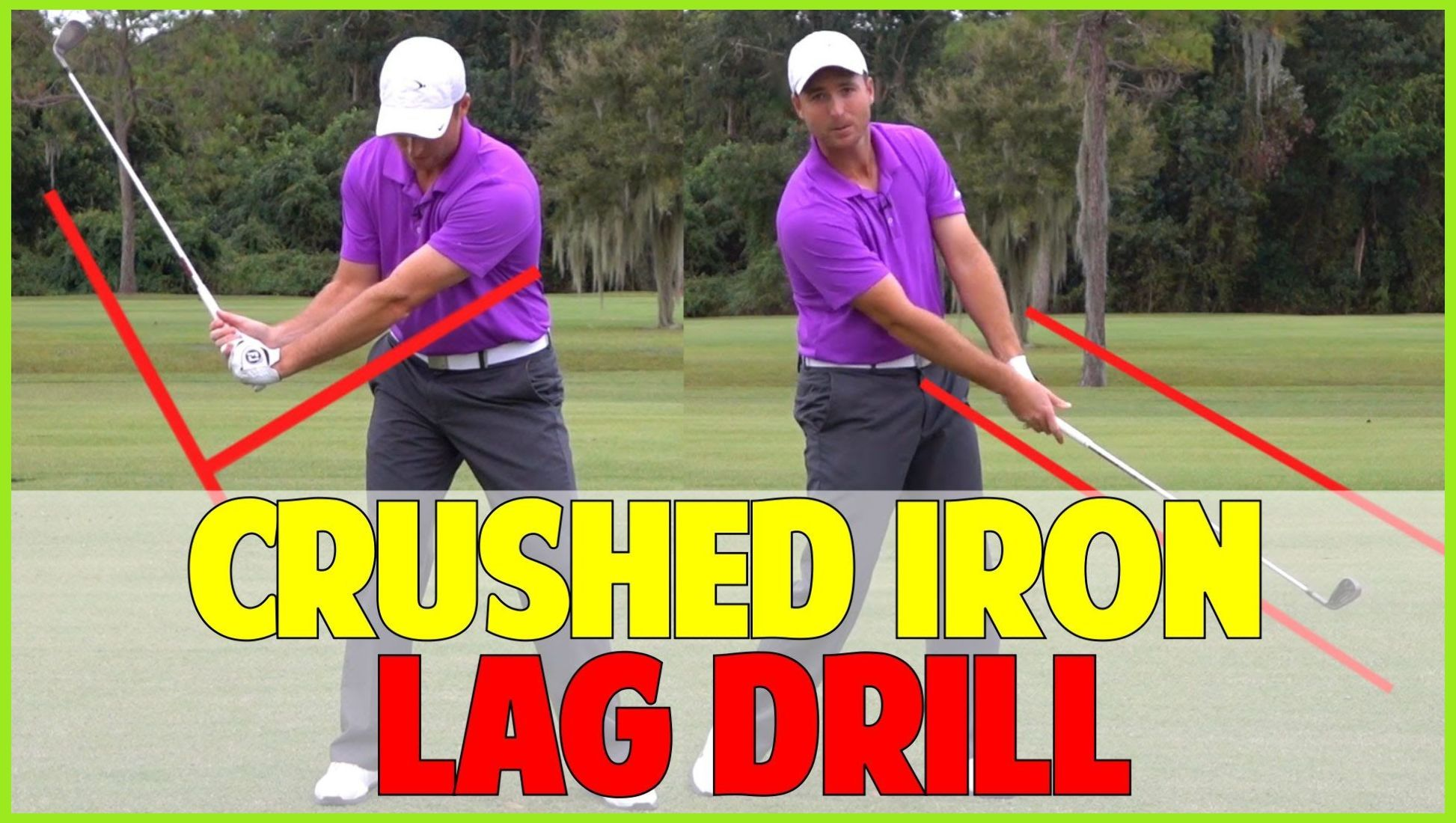 Golf lag drill to crush irons how to hit a driver
