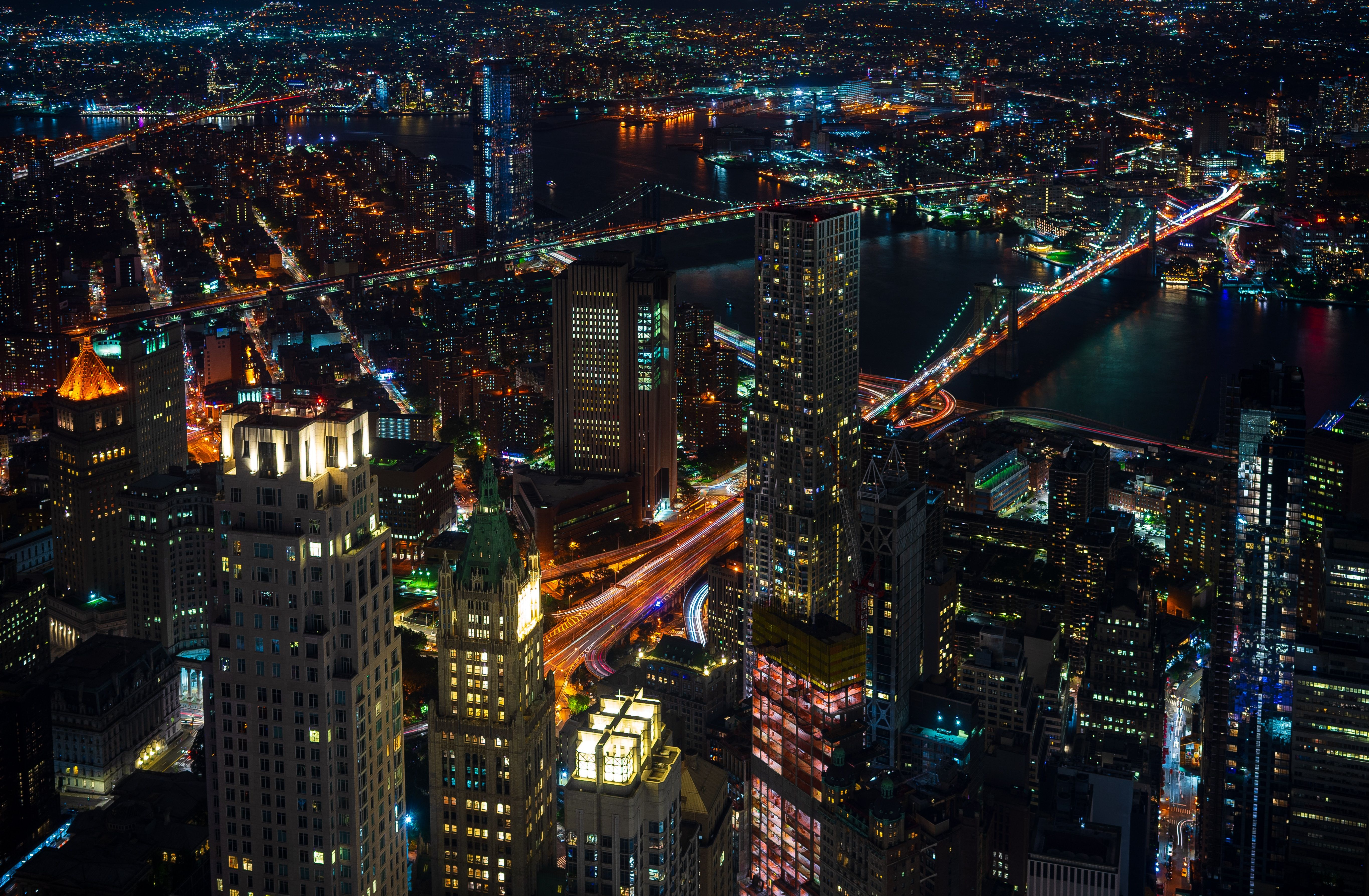 5461x3573 Wallpaper Night City Lights City Skyscrapers Top View New York Usa City Lights At Night Night City City Lights Hd wallpaper city night lights buildings