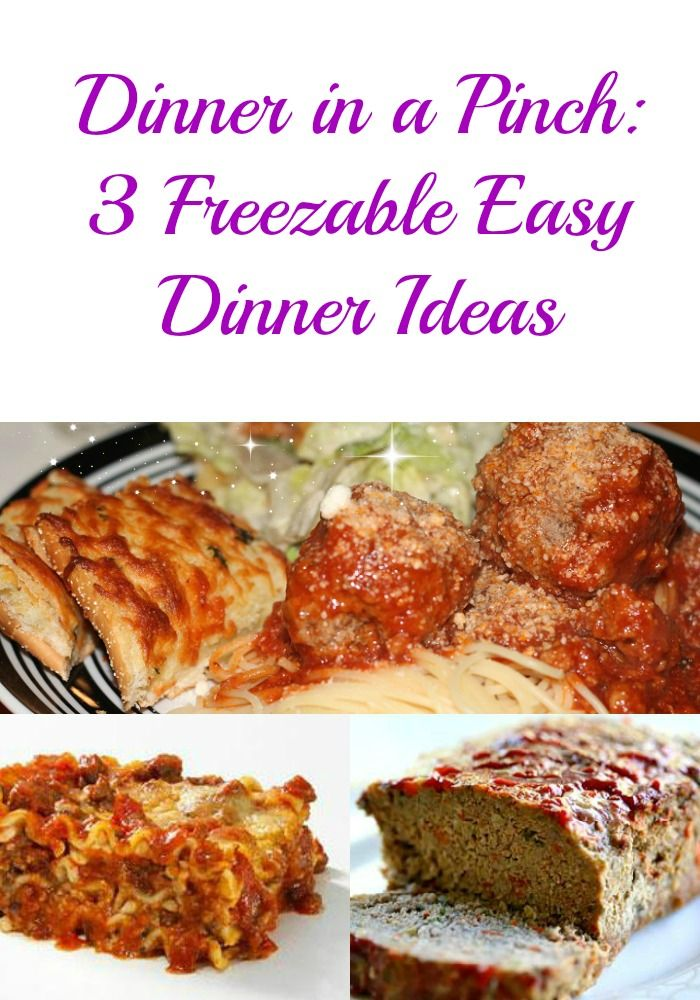 Freezable Dinner Ideas