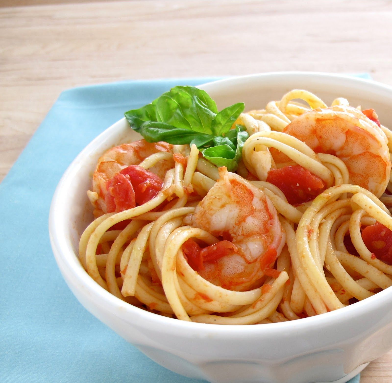 Shrimp Arrabbiata with Linguine