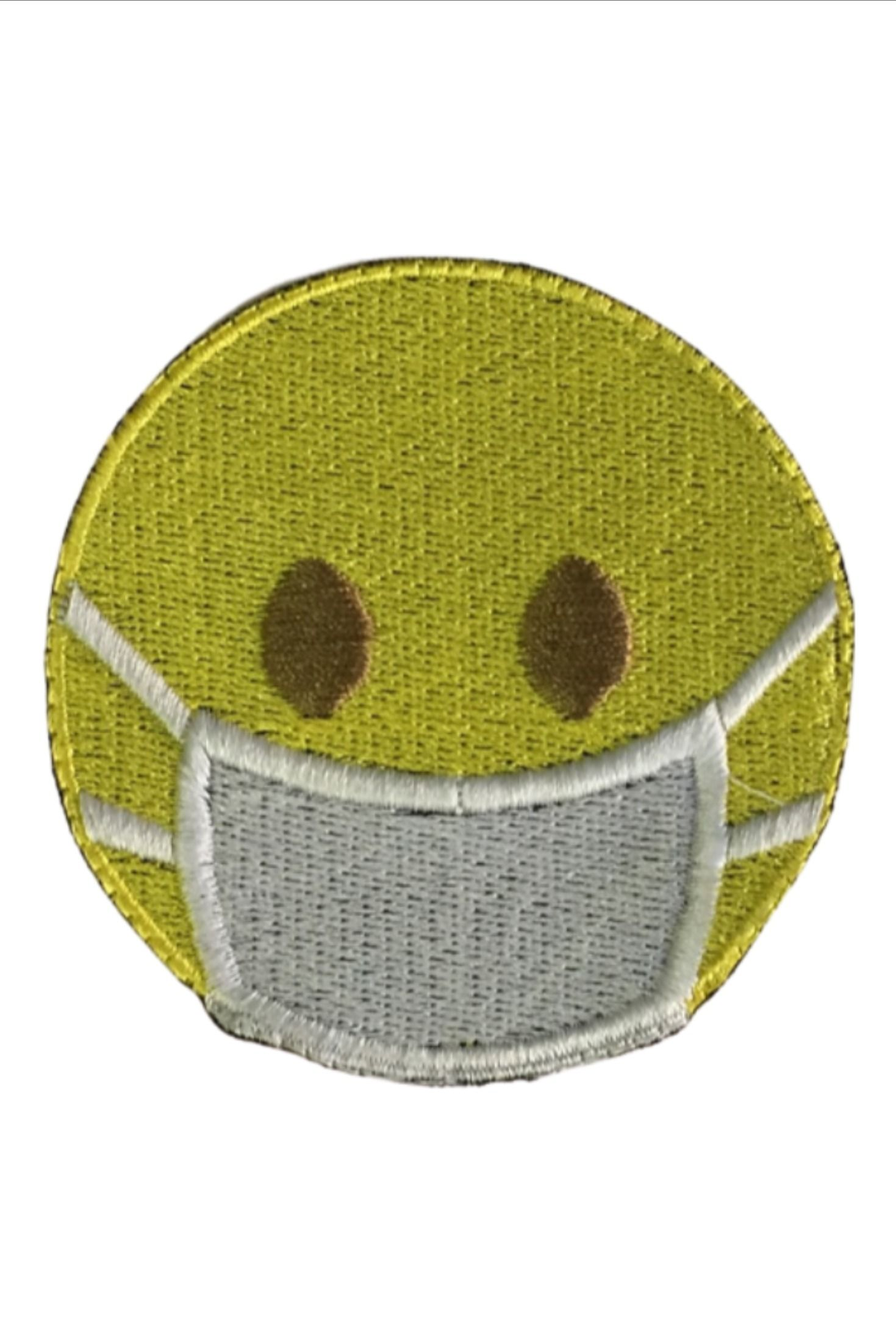 Face Mask Emoji Patch For Jackets Sew On Jeans T Shirt And Backpacks In 2020 Emoji Patch Embroidered Patches Embroidered Design
