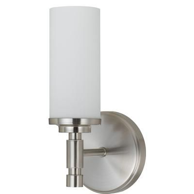 Bathroom Sconces Brushed Nickel shawson lighting - 5-1/8 inches wall sconce, brushed nickel finish
