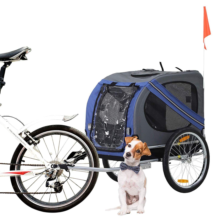 Aosom Elite Pet Dog Bike Trailer with Type 'A' Hitch