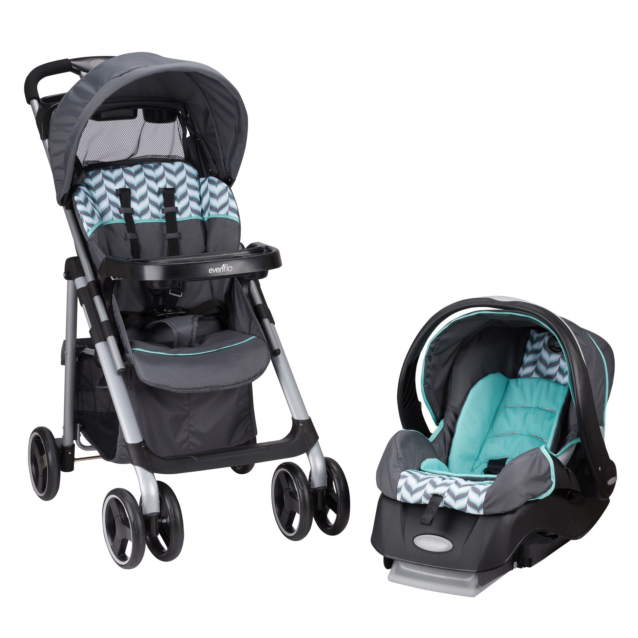 Evenflo Vive Safety Car Seat and Stroller Travel System Spearmint Spree New in Baby Strollers & Accessories Strollers