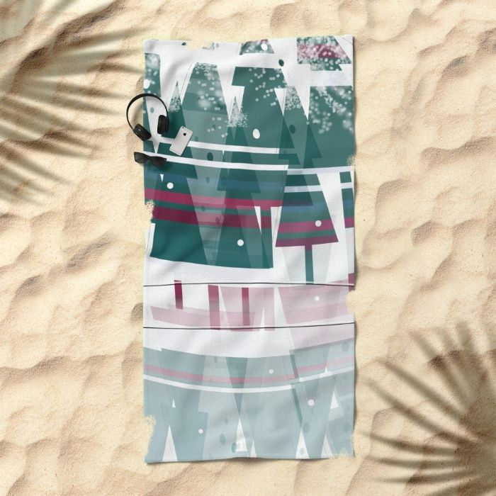 """Lay out like a pro with this super comfy, oversized Beach Towel. The soft polyester-microfiber front and cotton terry back are perfect for, well, drying your front and back. This design is also available as a bath and hand towel. Machine washable. Towel Dimensions: 74""""x37"""""""