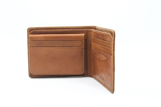 Mens Leather Bifold Wallet Removable Passcase Italian Leather by Tony Perotti