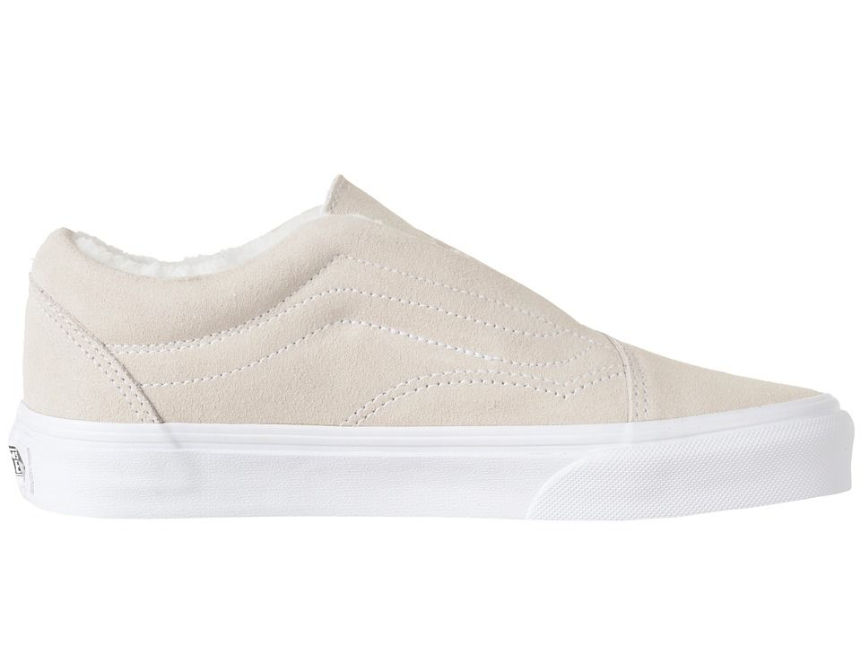 08c0843ab85 Vans Old Skool Laceless HG Skate Shoes (Suede) Fleece True White ...