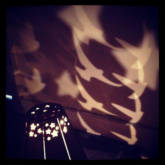 Rotating Lamp Night Light Birds In Flight By Theglassgardenuk Diy Lanterns Night Light Light