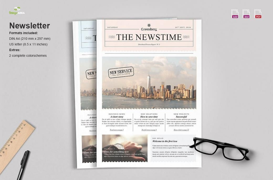 25+ Printable Newsletter Templates \u2013 PSD,Indesign,Word,Ai 25+ - news letter formats