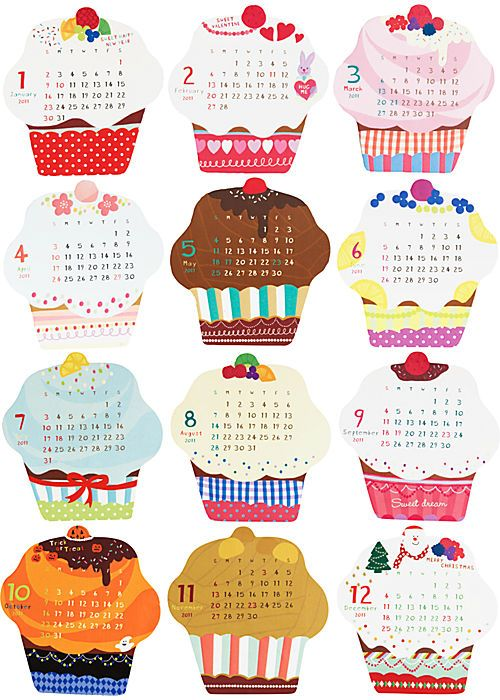 cupcake calendar...clearly I need this. | Decorating and Design ...