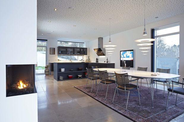 Hifihus  Et Lydhørt Hus  Bobedreno  Interiør Kitchen Beauteous House With No Dining Room Inspiration Design