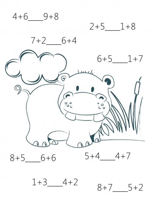 Comparison For 1st Grade 5 1o Matek Pinterest Printable