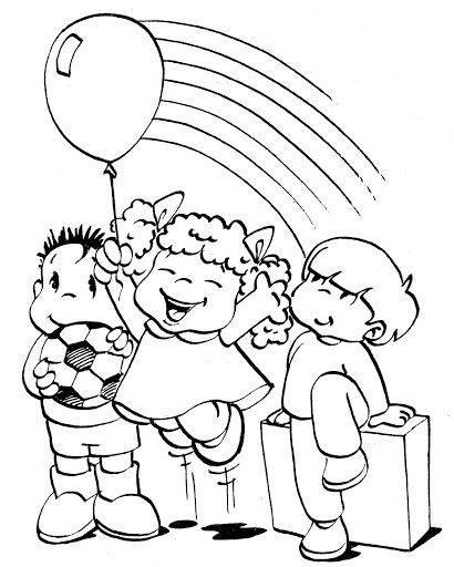 happy children coloring pages - photo#38