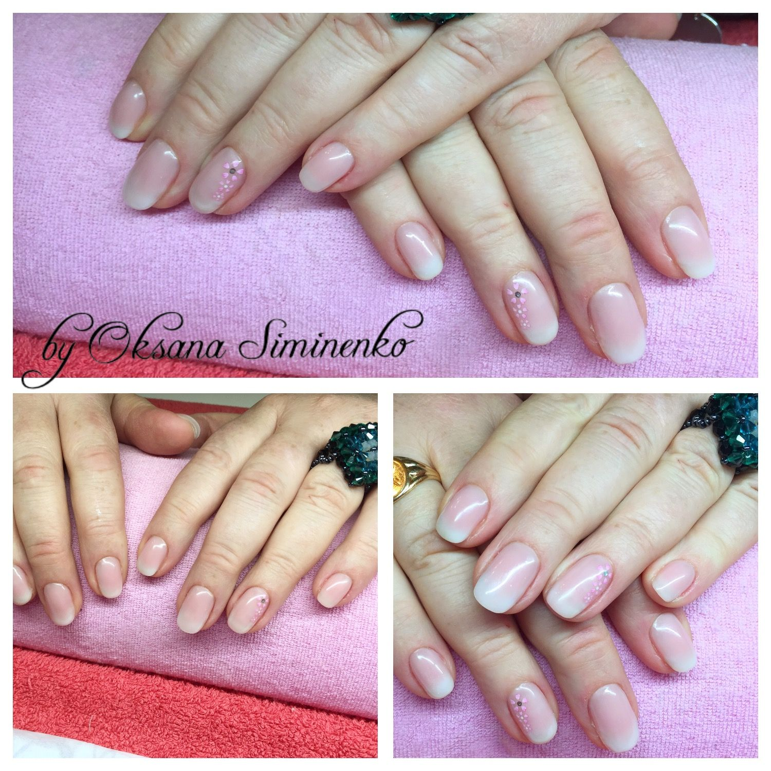 Gel Overlay  Ombr Nails ( Crystal Nails Ireland) For