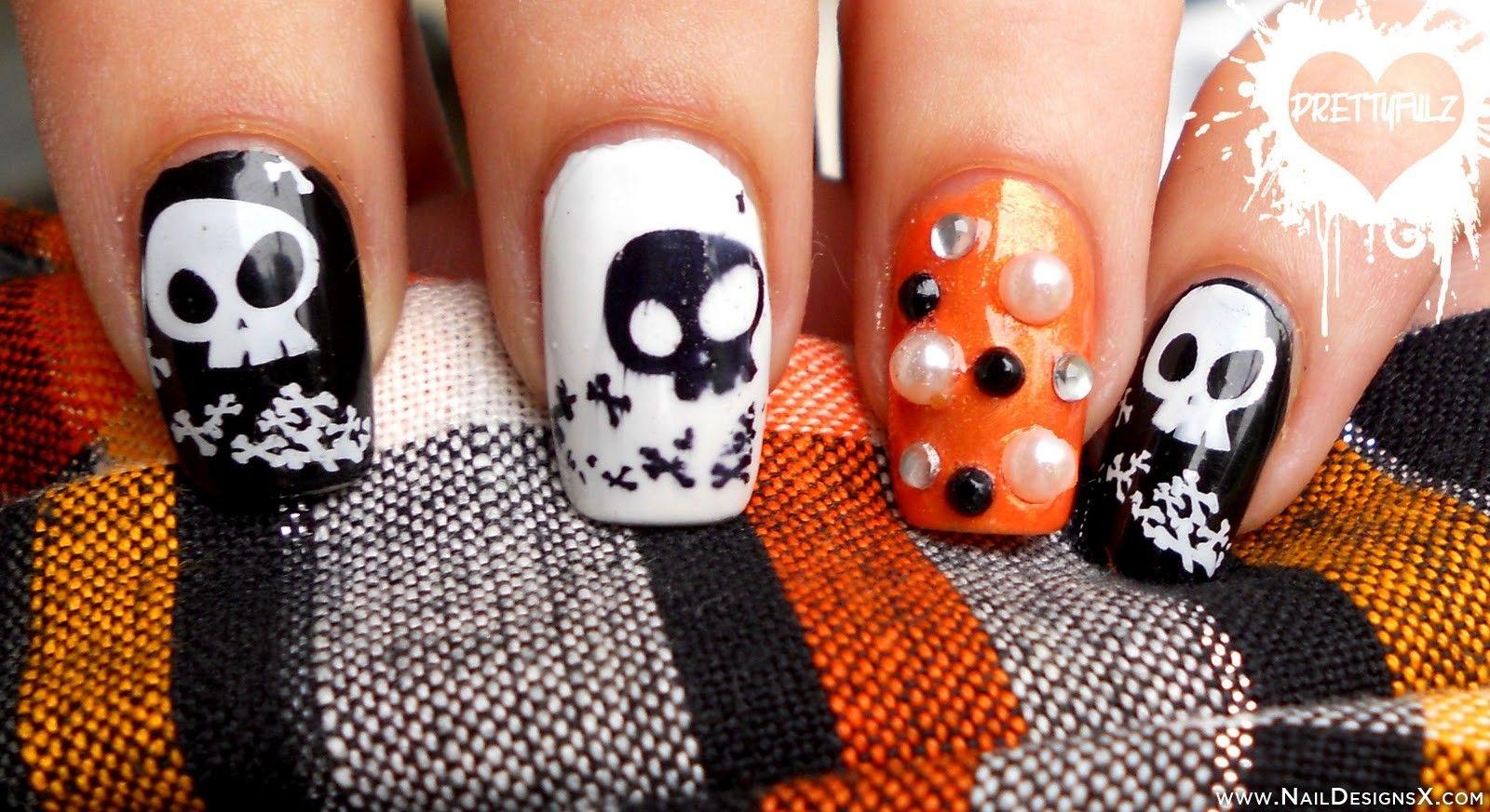 cute halloween nail design - Nail Designs & Nail Art | Halloween ...
