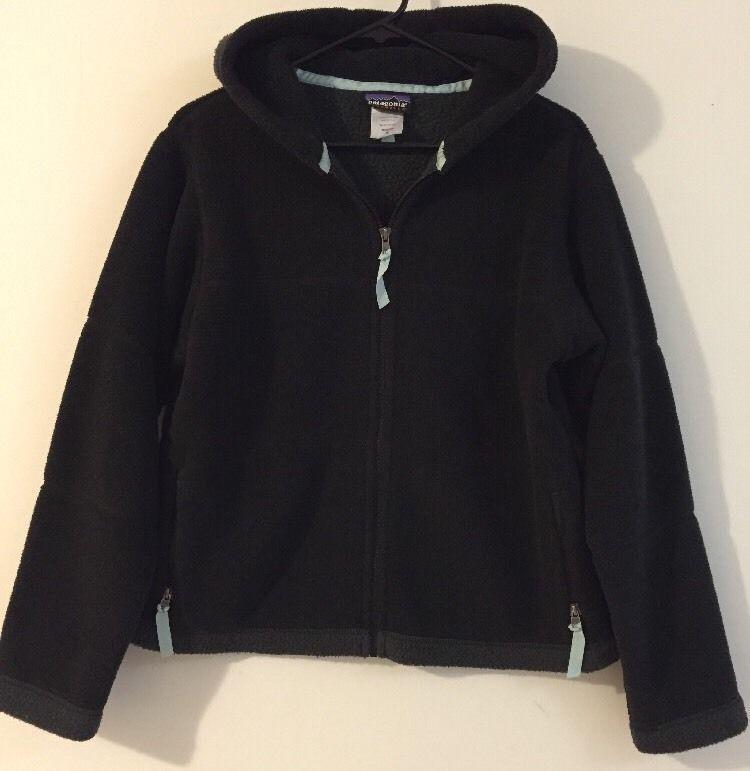06a28416a5a5 Women s PATAGONIA Synchilla Fleece Full Zip Jacket Size M Medium Black GUC  USA  Patagonia  FleeceJacket