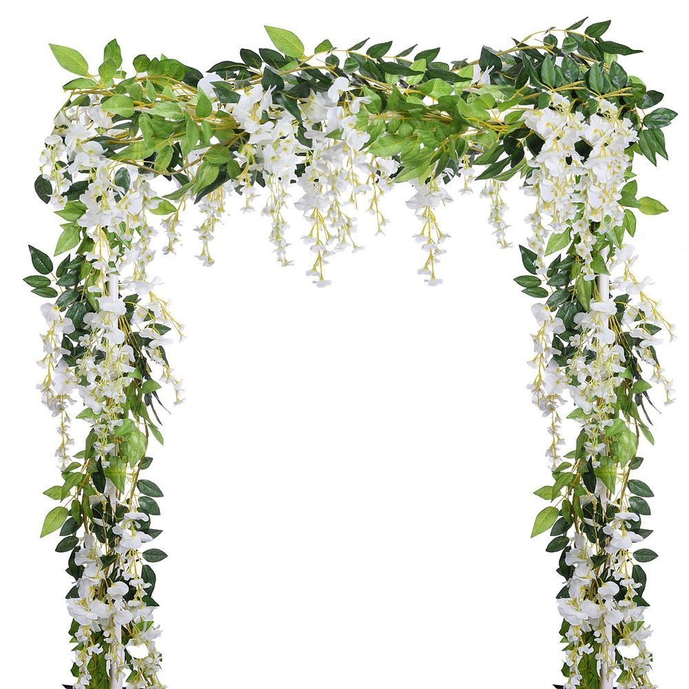 4pcs Artificial Eucalyptus leaves Garland Vine Wedding Greenery for Home Wall De