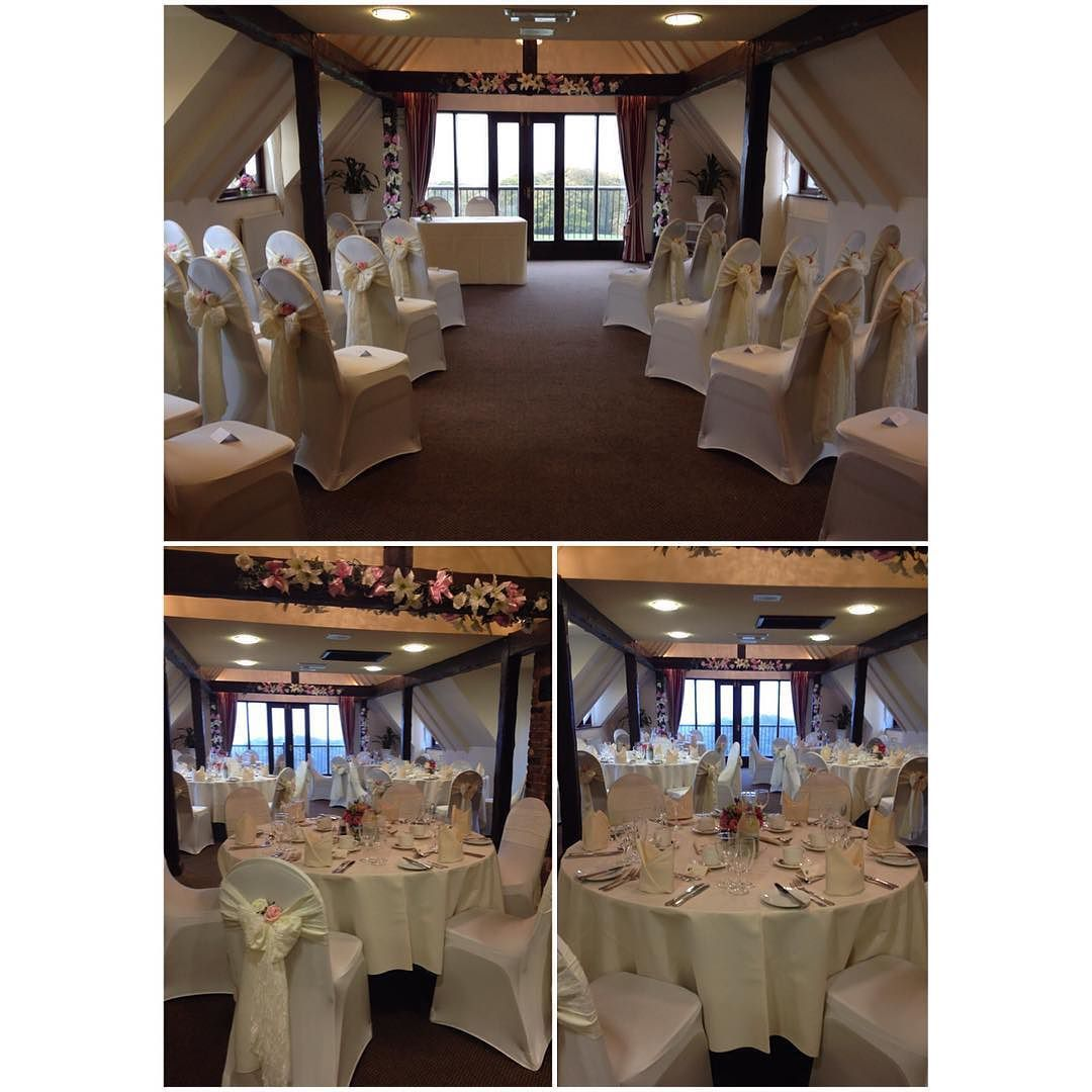 The Oaks Room Was Set Up For An Intimate Wedding Ceremony