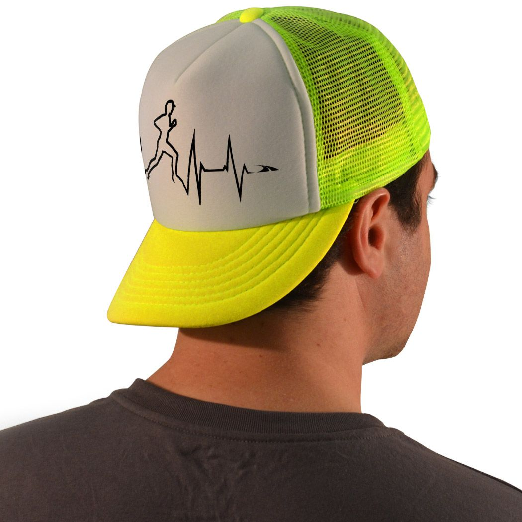 Running Trucker Hat Male Heartbeat Runner  0a2b23d1e88