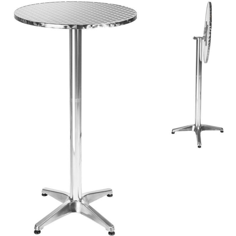 Table de bar, Table de Jardin, Aluminium - Hauteur réglable ...