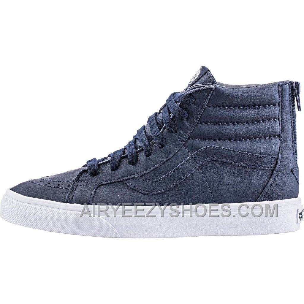 20192d1e24 https   www.airyeezyshoes.com vans-premium-leather-sk8hi-reissue-zip-mens -dress-blues-true-white.html Only 80.00 VANS PREMIUM LEATHER SK8HI REISSUE  ZIP ...