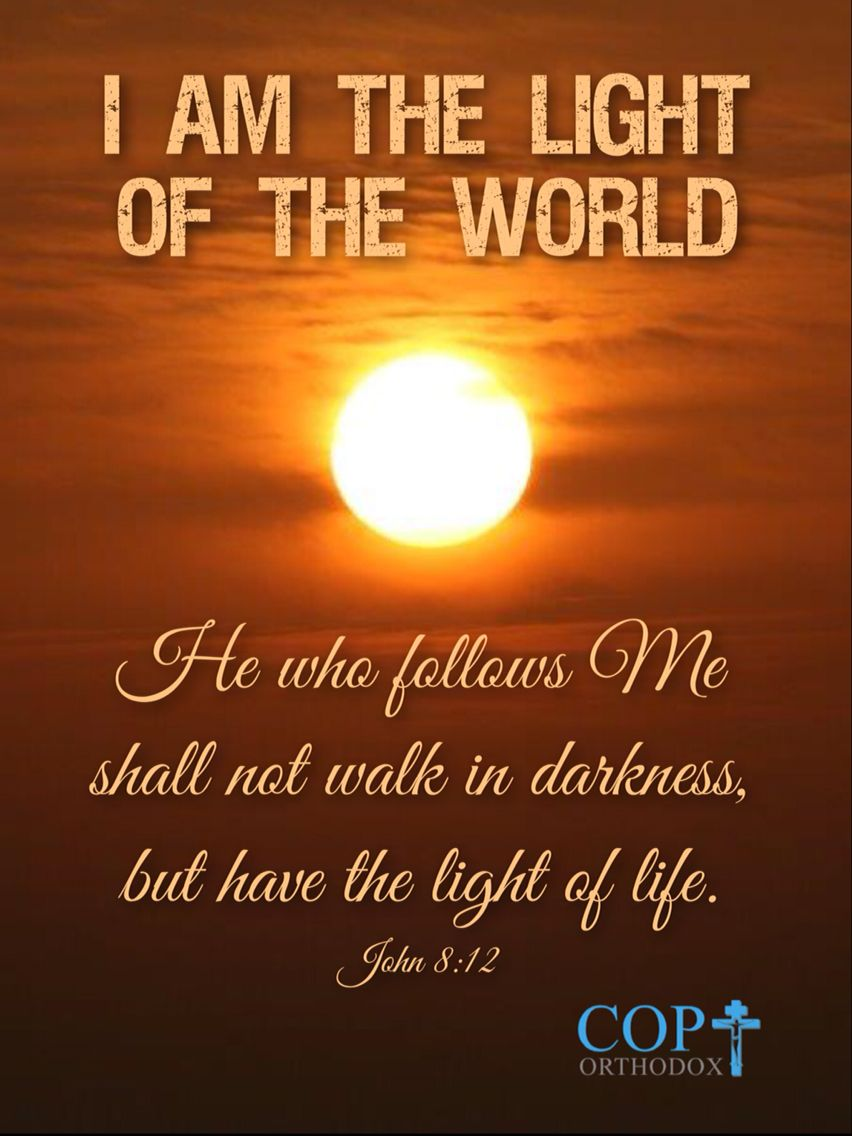 John 812 Then Jesus Spoke To Them Again Saying I Am The Light Of