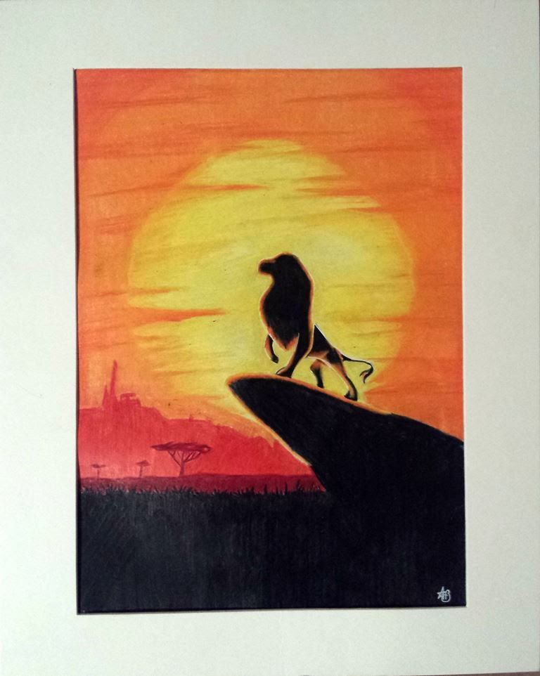 The Lion King Disney Silhouette Speed Drawing Youtube