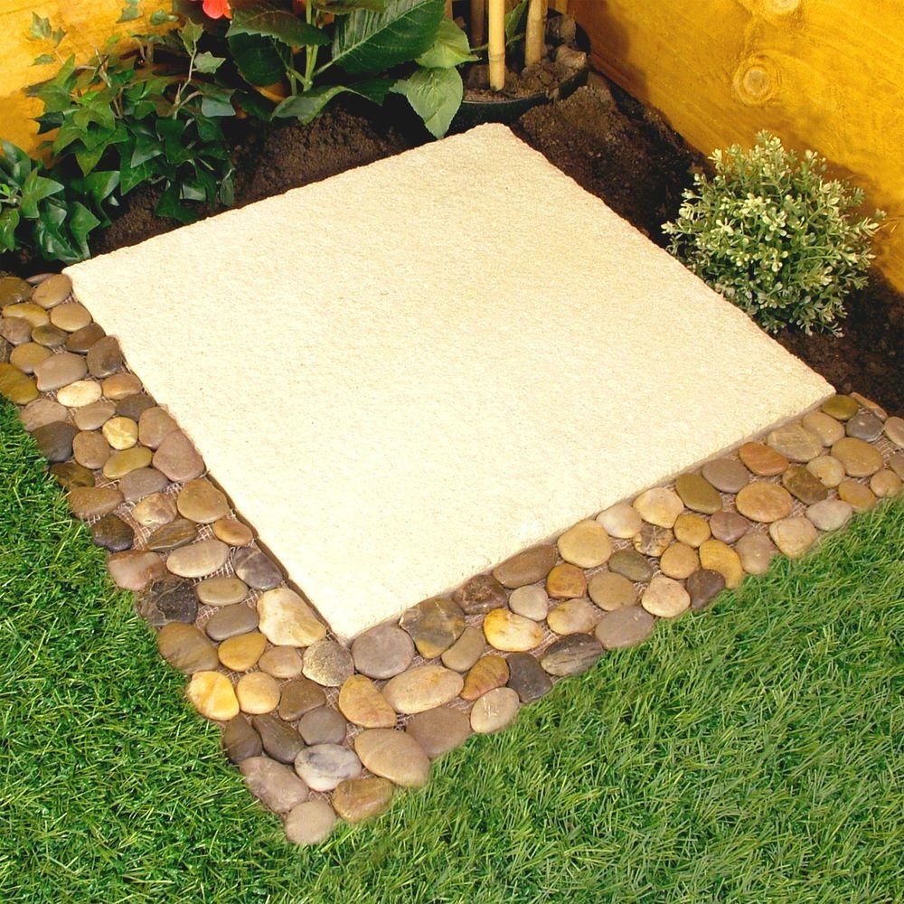 Pebble Border Garden Edging Strips 4pk No More Stones To Sweep in ...