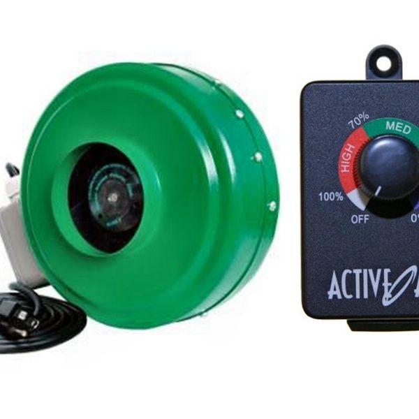 Active Air Acdf4 4 Inch Hydroponic 165 Cfm Inline Fan Acsc Fan Controller Hydroponics Fan Centrifugal Fan
