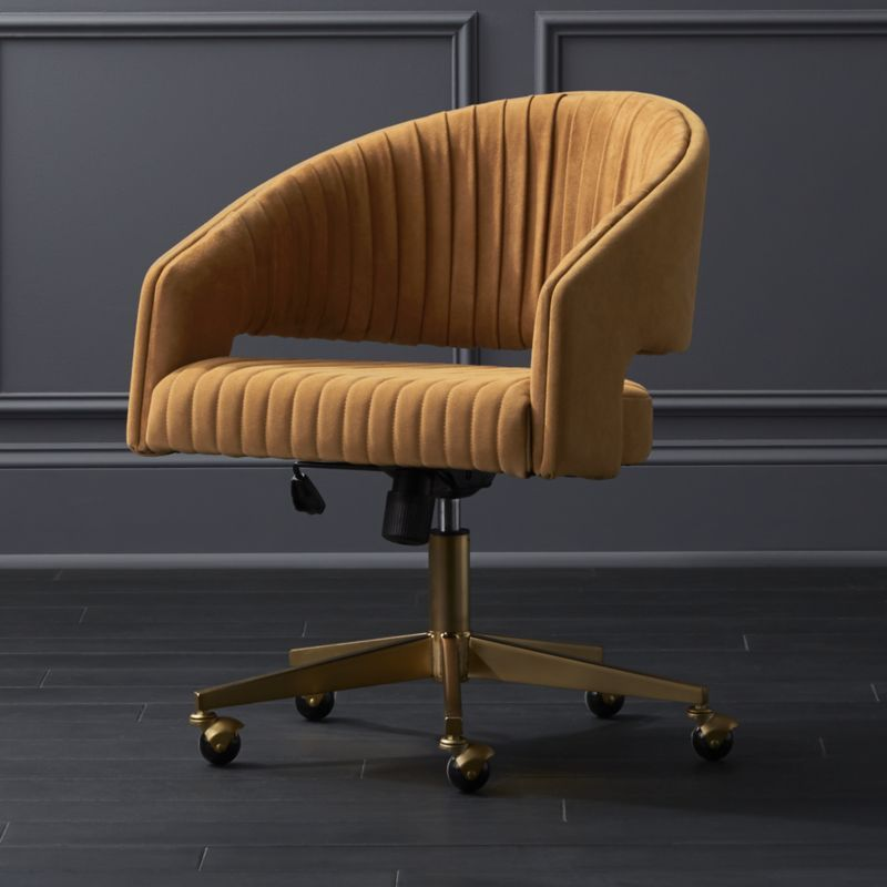 Channel suede office chair reviews cb2 modern office
