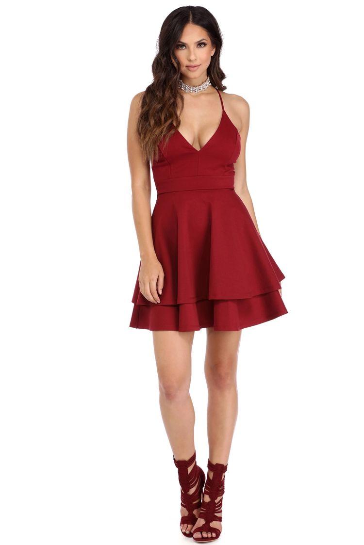 c7dfd23071a Burgundy Late Night Fantasy Dress