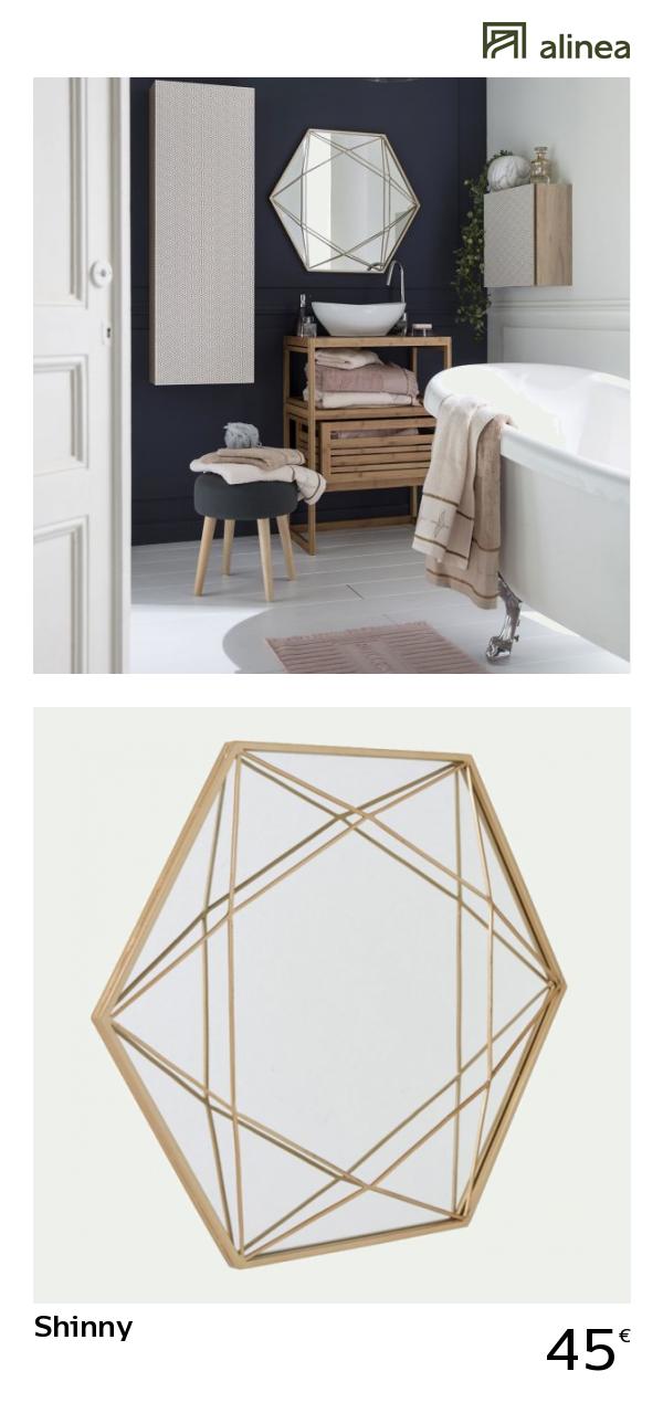 Alinea Shinny Miroir Hexagonal En Metal Coloris Or H60 5cm Alinea Decoration Miroir Metal Inspiration Meubles Et Deco
