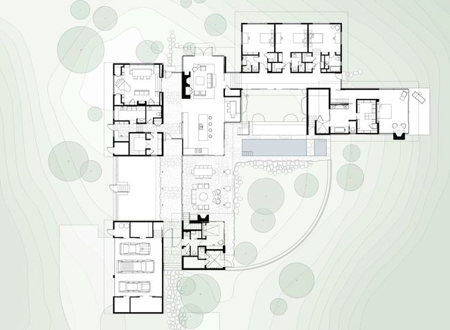 Better Know An L F Project Yee Residence The Dogrun Architectural Floor Plans House Floor Plans Courtyard House Plans