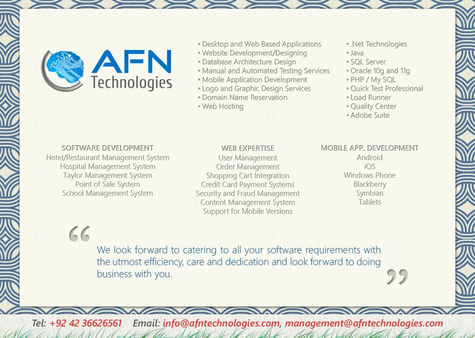 Our Brochure AFNTechnologies Development SOFTWARE For