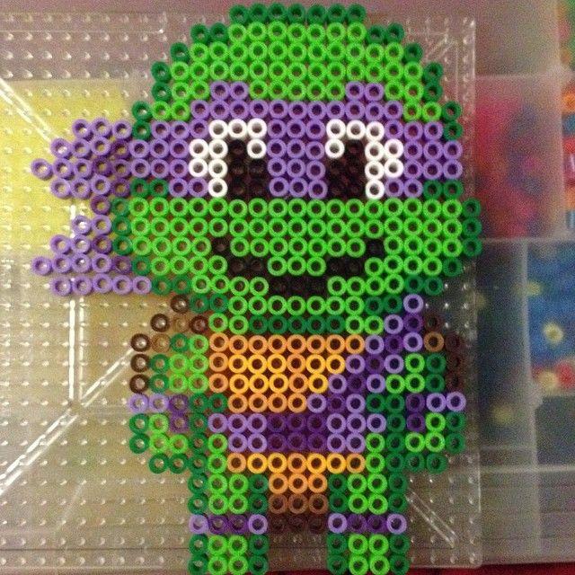 TMNT Donatello perler beads by cl0588 | TMNT | Pinterest | Bolitas ...