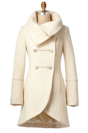 I love winter white coats!