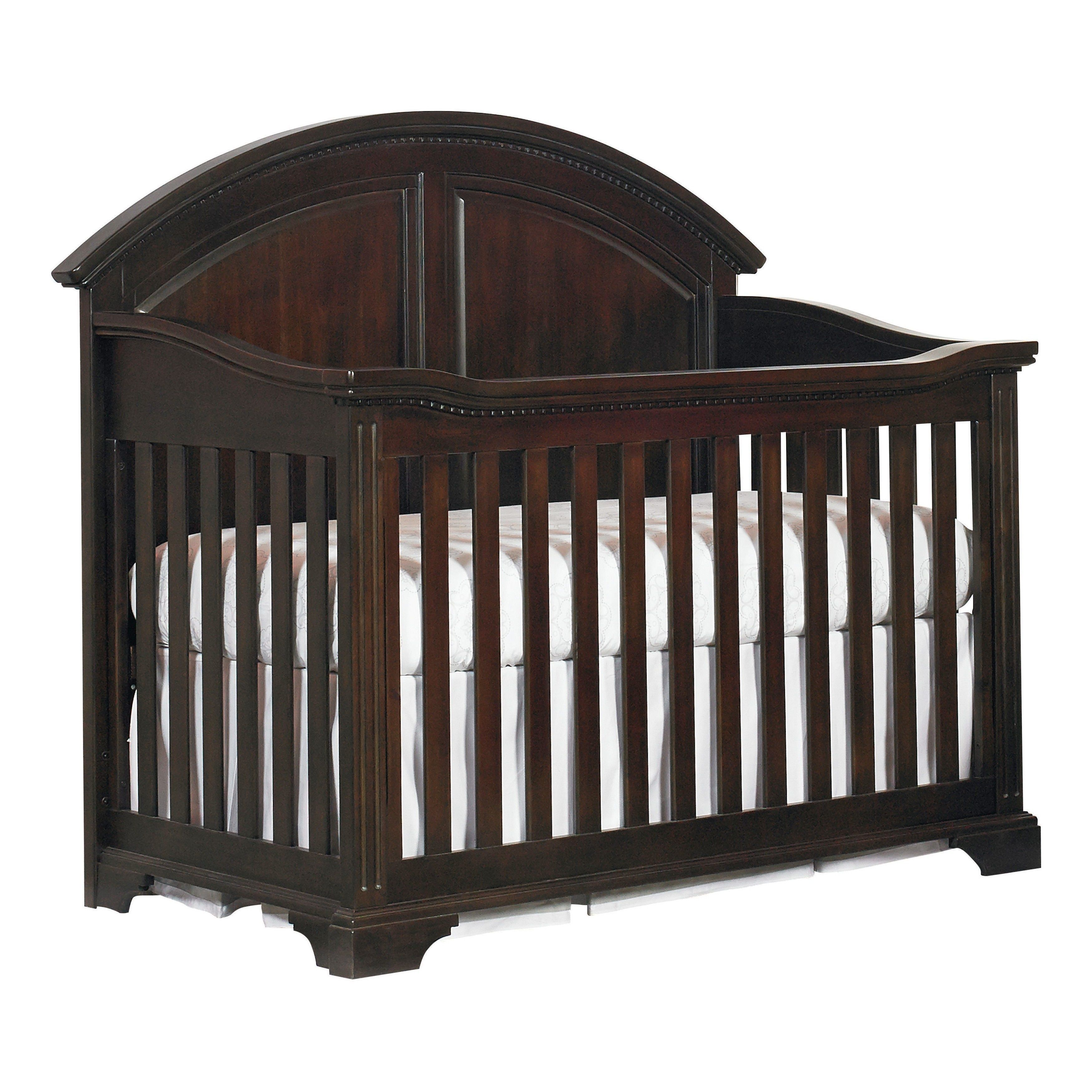 Bassettbaby Kinston Espresso Acacia Wood and Metal 4-in-1 ...