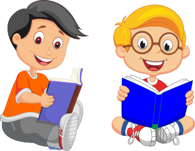 Image Result For Gambar Anak Yang Sedang Membaca Buku Membaca Buku Kartun Membaca