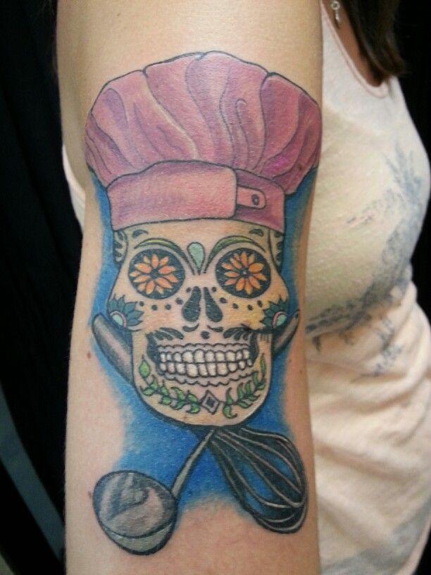 sugar skull chef tattoos pinterest sugar skulls tattoo and chef tattoo. Black Bedroom Furniture Sets. Home Design Ideas