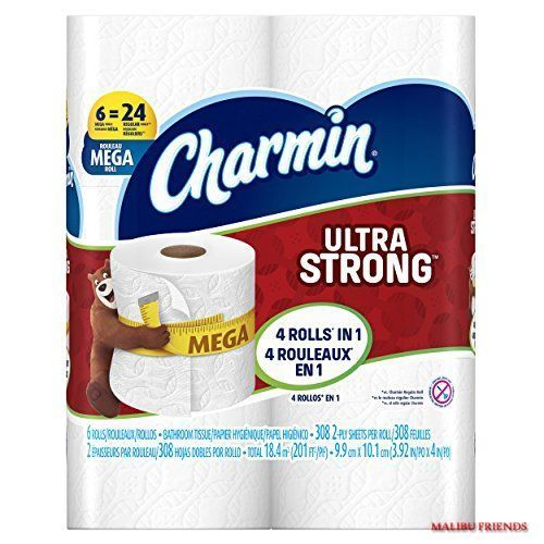 Charmin Ultra Strong Toilet Paper 6 Mega Rolls Save On Combined