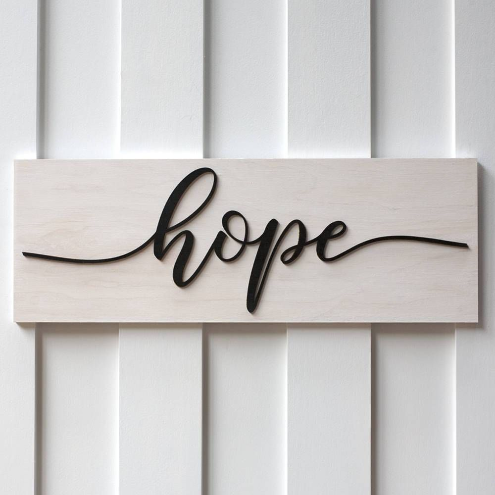 Hope Sign White Wash,Family Home Decor, Decor,Shabby Chic Decor ...