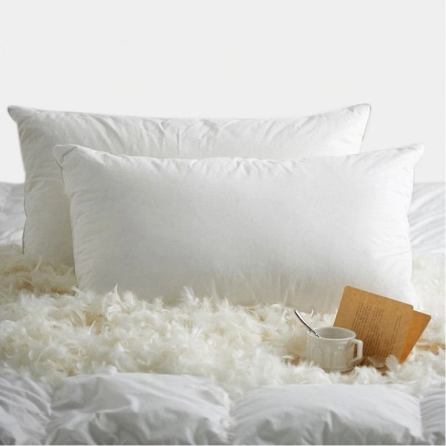 وسادة ميلان فندقية ريش طبيعي Goose Down Pillows Pillows Bed Pillows