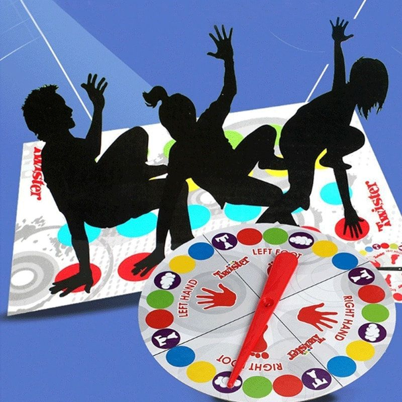 Photo of Funny Kids Adult Body Twister Outdoor Moves Mat Board Game Group Sport Toy