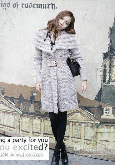 women Long sweater coat,women dress Japan and South Korea women's ...