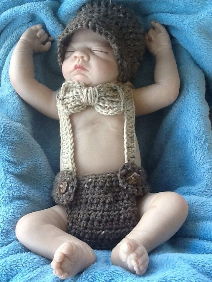 Beanie Little Mister Outfit Little Man Suit Suspenders