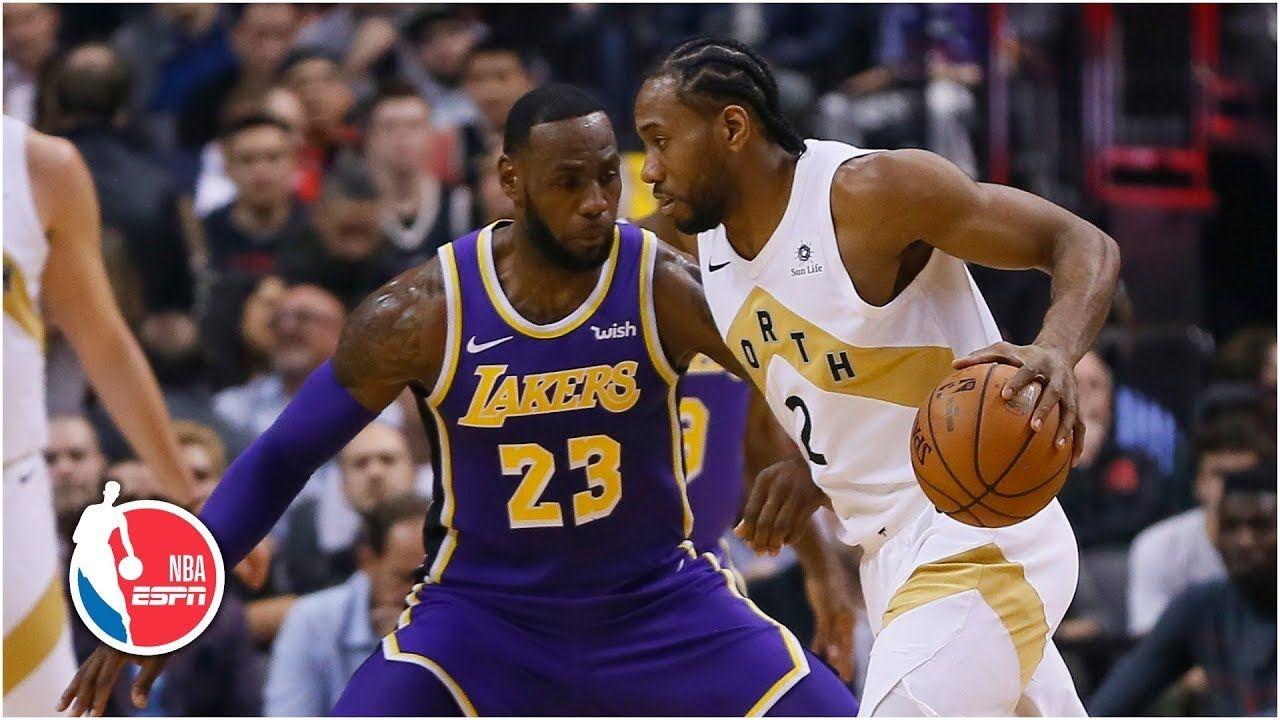 Kawhi Leonard, LeBron James battle in Toronto   Lakers vs. Raptors   NBA  Highlights   Lebron james, Baseball highlights, Lakers